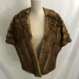 Vintage GENUINE Fur Wrap Coat Bridal Stole Wedding